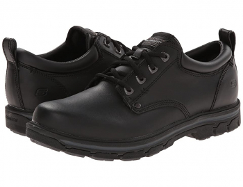 SKECHERS Segment Relaxed Fit Oxford (Black) Men's Shoes